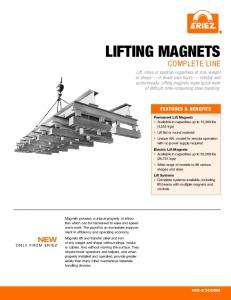 lifting magnets complete line New