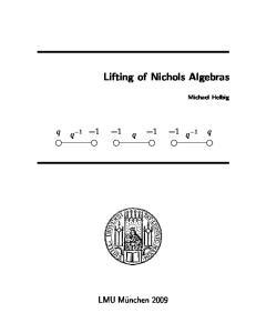 Lifting of Nichols Algebras