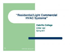 Light Commercial HVAC Systems
