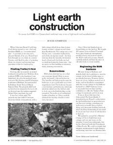 Light earth construction