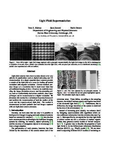Light Field Superresolution