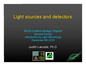 Light sources and detectors