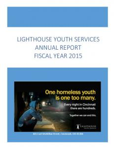 LIGHTHOUSE YOUTH SERVICES ANNUAL REPORT FISCAL YEAR 2015