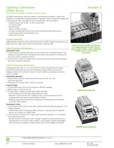 Lighting Contactors Section 3 CR460 Series