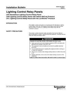 Lighting Control Relay Panels