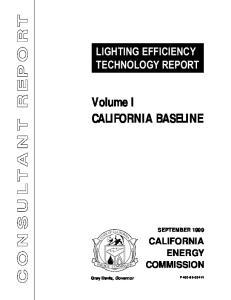 LIGHTING EFFICIENCY TECHNOLOGY REPORT