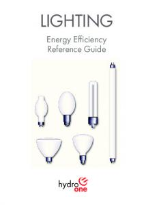 LIGHTING. Energy Efficiency Reference Guide