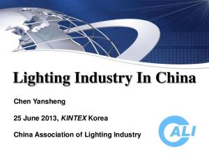 Lighting Industry In China