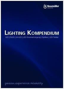 LIGHTING KOMPENDIUM LED OLED UV-LED LED-Stromversorgung Optiken LED-Treiber