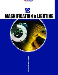 Lighting. onlinecomponents.com MAGNIFICATION & LIGHTING