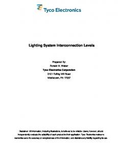 Lighting System Interconnection Levels