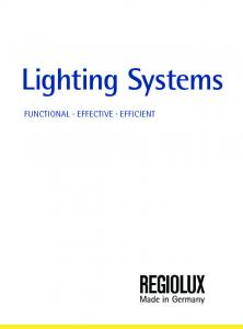 Lighting Systems FUNCTIONAL EFFECTIVE EFFICIENT
