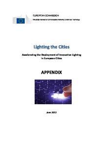 Lighting the Cities APPENDIX