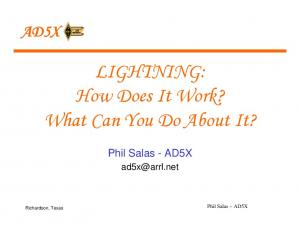 LIGHTNING: How Does It Work? What Can You Do About It?
