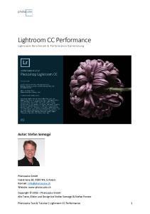 Lightroom CC Performance Lightroom Benchmark & Performance Optimierung