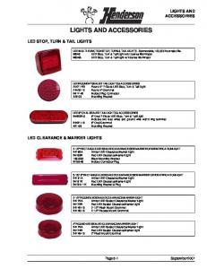 LIGHTS AND ACCESSORIES LED STOP, TURN & TAIL LIGHTS LED CLEARANCE & MARKER LIGHTS. Page 8-1