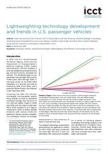 Lightweighting technology development and trends in U.S. passenger vehicles