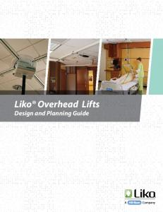 Liko Overhead Lifts Design and Planning Guide
