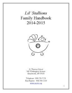 Lil Stallions Family Handbook