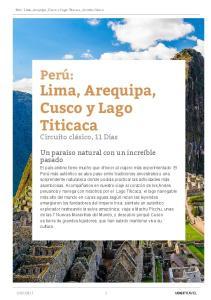 Lima, Arequipa, Cusco y Lago Titicaca