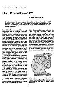 Limb Prosthetics 1970