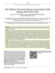 Limb Salvage (METALS) Study