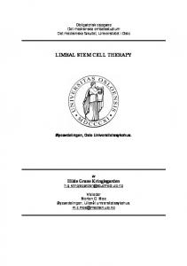 LIMBAL STEM CELL THERAPY