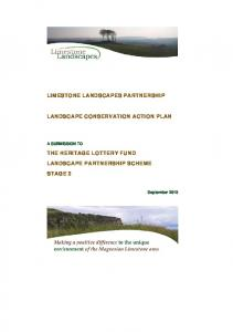 LIMESTONE LANDSCAPES PARTNERSHIP LANDSCAPE CONSERVATION ACTION PLAN