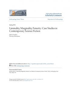 Liminality, Marginality, Futurity: Case Studies in Contemporary Science Fiction
