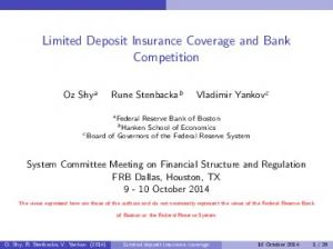 Limited Deposit Insurance Coverage and Bank Competition