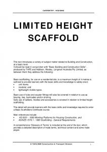 LIMITED HEIGHT SCAFFOLD