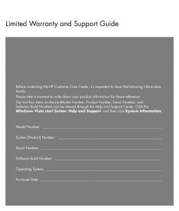 Limited Warranty and Support Guide