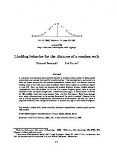 Limiting behavior for the distance of a random walk