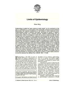 Limits of Epidemiology