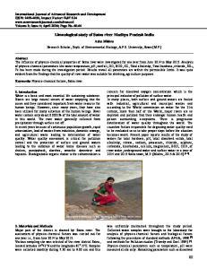 Limnological study of Satna river Madhya Pradesh India