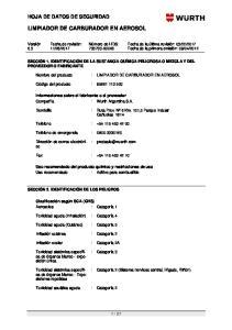 LIMPIADOR DE CARBURADOR EN AEROSOL