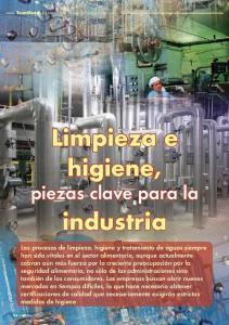 Limpieza e higiene, piezas clave para la. industria