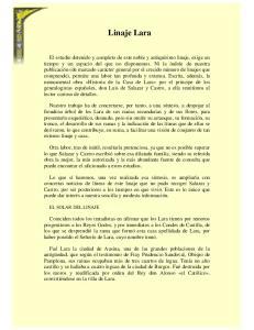 Linaje Lara EL SOLAR DEL LINAJE
