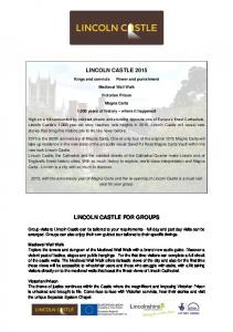 LINCOLN CASTLE FOR GROUPS