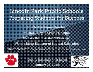 Lincoln Park Public Schools Preparing Students for Success