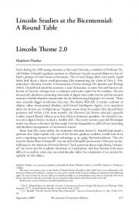 Lincoln Studies at the Bicentennial: A Round Table
