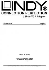 LINDY ELECTRONICS LIMITED & LINDY-ELEKTRONIK GMBH SECOND EDITION