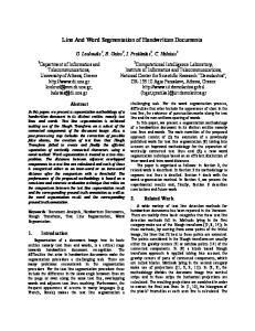 Line And Word Segmentation of Handwritten Documents