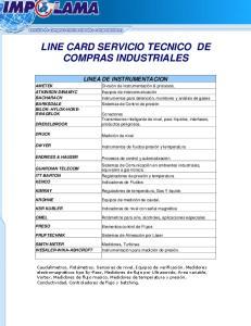 LINE CARD SERVICIO TECNICO DE COMPRAS INDUSTRIALES