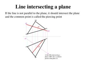 Line intersecting a plane