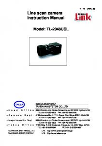 Line scan camera Instruction Manual