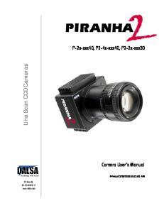 Line Scan CCD Cameras