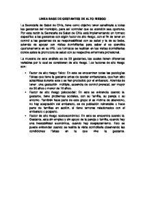 LINEA BASE DE GESTANTES DE ALTO RIESGO