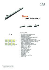 Linea. Linear Wallwasher LED. Produkteingenschaften