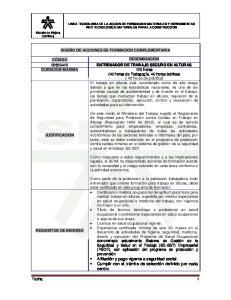 LINEA TECNOLOGIA DE LA ACCION DE FORMACION: MATERIALES Y HERRAMIENTAS